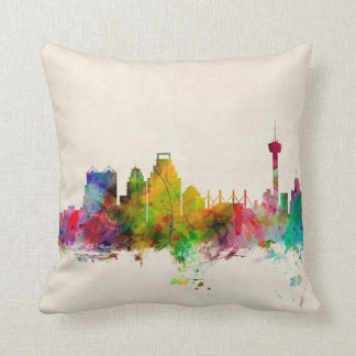 San Antonio Texas Skyline Cityscape Throw Pillow