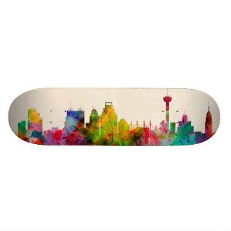 San Antonio Texas Skyline Cityscape Skateboard Deck
