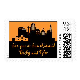 San Antonio Texas Skyline Postage Stamp