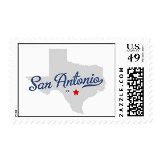 San Antonio Texas Stamp