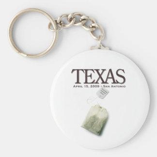 San Antonio, Texas Tea Party Keychain