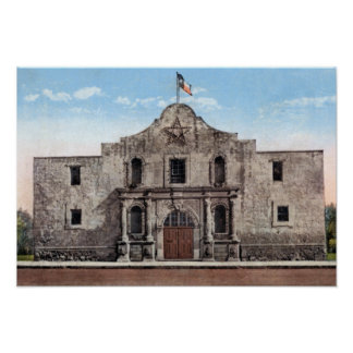 San Antonio Texas The Alamo Poster