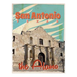 San Antonio, Texas, The Alamo Travel Poster Postcard