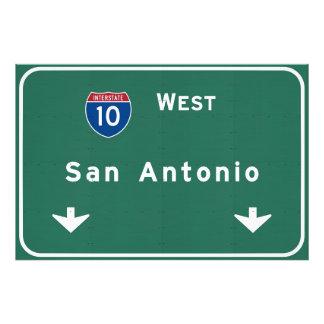 San Antonio Texas tx Interstate Highway Freeway : Photo Print