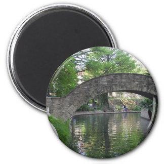 San Antonio tiende un puente sobre Riverwalk Imán Para Frigorifico
