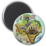 San Antonio TX 2 Inch Round Magnet