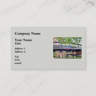 Antonio texas business cards zazzle san antonio tx bridge on paseo del rio business card reheart Image collections