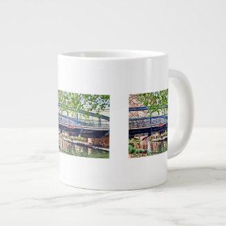 San Antonio TX - Bridge on Paseo Del Rio Giant Coffee Mug