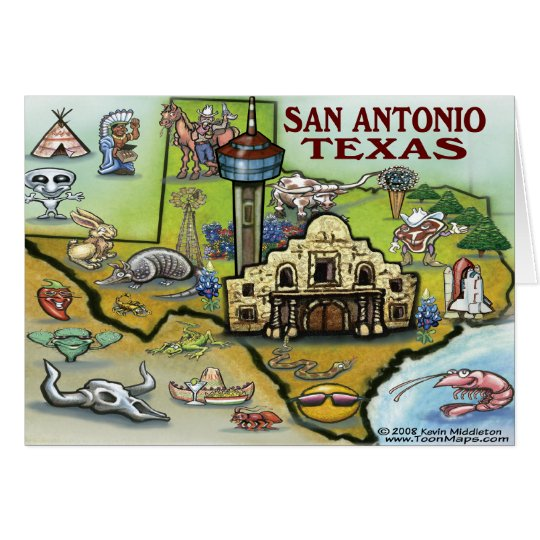 San Antonio TX Card