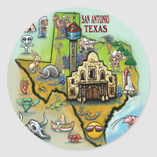 San Antonio TX Classic Round Sticker