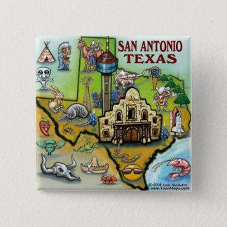 San Antonio TX Pinback Button