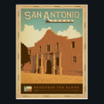 "San Antonio, TX Postcard<br><div class=""desc"">Anderson Design Group is an award-winning illustration and design firm in Nashville,  Tennessee. Founder Joel Anderson directs a team of talented artists to create original poster art that looks like classic vintage advertising prints from the 1920s to the 1960s.</div>"