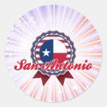 San Antonio, TX Round Stickers
