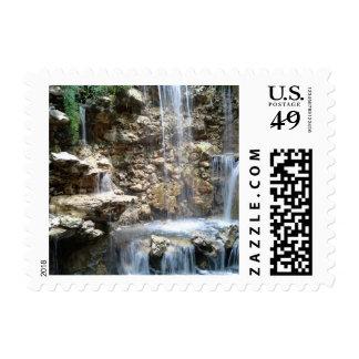 San Antonio waterfall stamp
