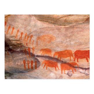 San, arte de la roca del bosquimano, desierto de tarjeta postal