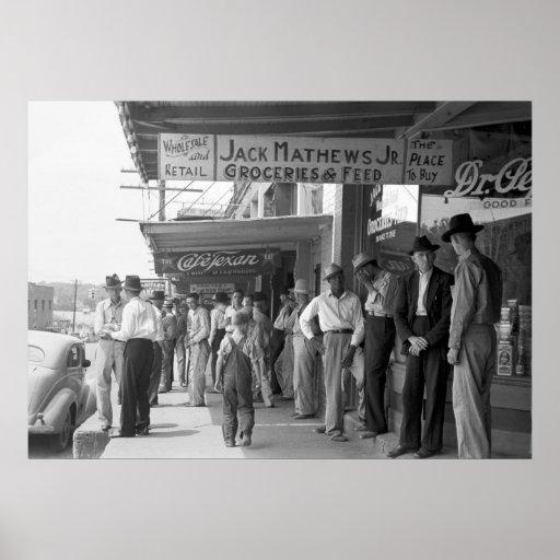 San Augustine, Tejas 1939 Póster