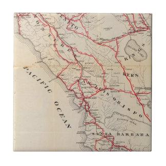 San Benito, Fresno, Monterey, San Luis Obispo Azulejo Cuadrado Pequeño