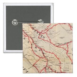 San Benito, Fresno, Monterey, San Luis Obispo Pinback Button