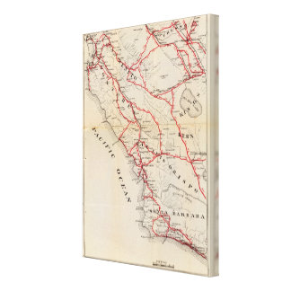 San Benito, Fresno, Monterey, San Luis Obispo Impresión En Lienzo Estirada