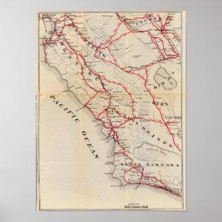 San Benito, Fresno, Monterey, San Luis Obispo Poster