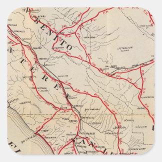 San Benito, Fresno, Monterey, San Luis Obispo Calcomanía Cuadrada Personalizada