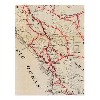 San Benito, Fresno, Monterey, San Luis Obispo Tarjeta Postal