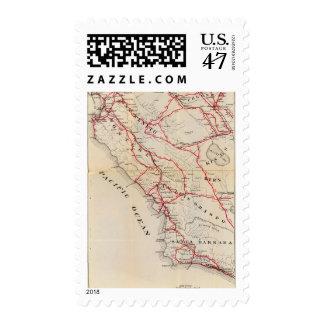 San Benito, Fresno, Monterey, San Luis Obispo Timbre Postal