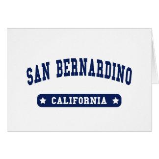 San Bernardino California College Style tee shirts Greeting Cards