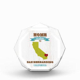 San Bernardino, California Map – Home Is Where Acrylic Award