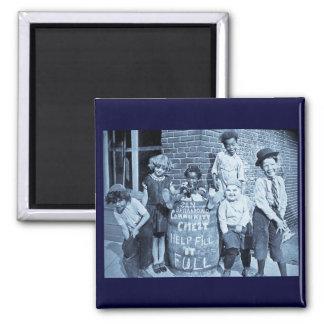 San Bernardino Community Chest - Vintage 2 Inch Square Magnet