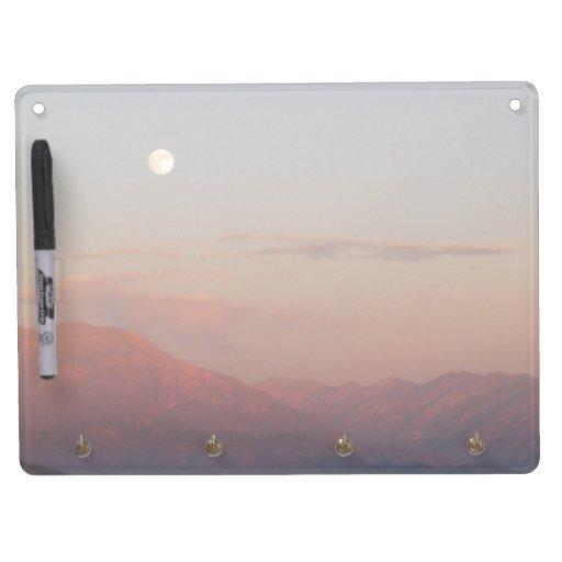 San Bernardino Mountain Moonrise Dry Erase Whiteboards