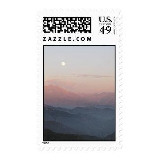 San Bernardino Mountain Moonrise Postage Stamps