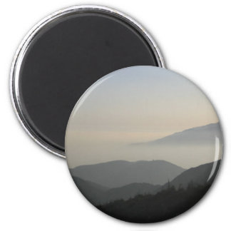 San Bernardino Mountain Sunset 2 Inch Round Magnet