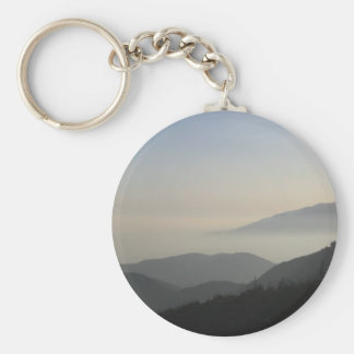 San Bernardino Mountain Sunset Keychain