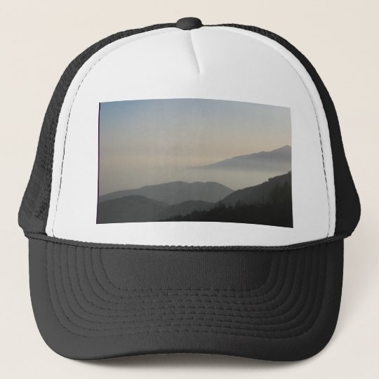 San Bernardino Mountain Sunset Trucker Hat