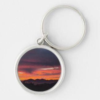 San Bernardino Mountains Sunset Keychain
