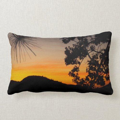 San Bernardino Mountains Sunset Pillow