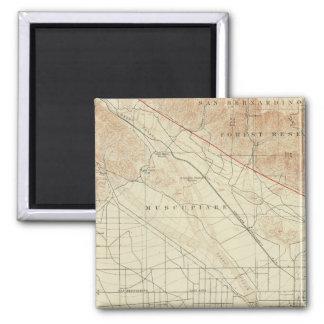 San Bernardino quadrangle showing San Andreas Rift 2 Inch Square Magnet