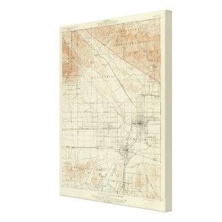 San Bernardino quadrangle showing San Andreas Rift Canvas Print