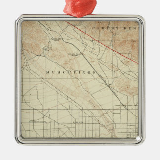 San Bernardino quadrangle showing San Andreas Rift Metal Ornament