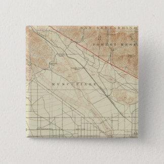 San Bernardino quadrangle showing San Andreas Rift Pinback Button