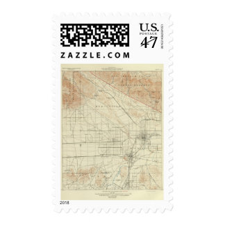 San Bernardino quadrangle showing San Andreas Rift Postage