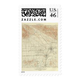 San Bernardino quadrangle showing San Andreas Rift Postage Stamp