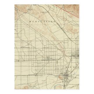 San Bernardino quadrangle showing San Andreas Rift Postcard