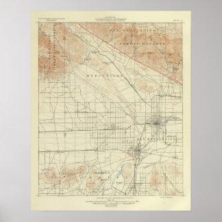 San Bernardino quadrangle showing San Andreas Rift Poster