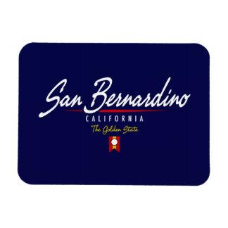 San Bernardino Script Rectangular Photo Magnet