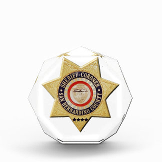San Bernardino Sheriff-Coroner Acrylic Award