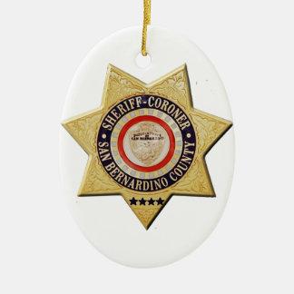 San Bernardino Sheriff-Coroner Ceramic Ornament