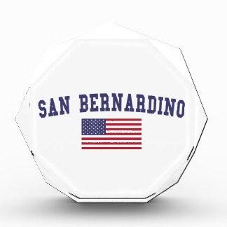 San Bernardino US Flag Acrylic Award