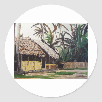 San Blas Islands, Panama WaterColor Classic Round Sticker